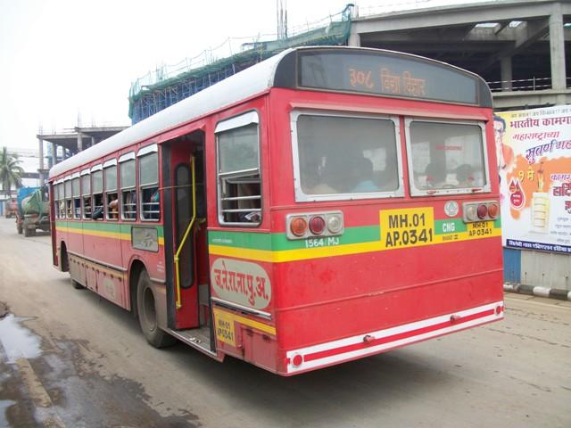 Bus at the Mumbai Airport