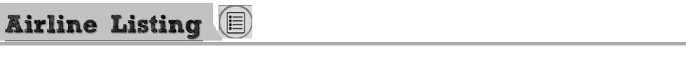 Airline Listing MyIDTravel.com