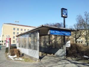 Platz der Luftbrucke U Bahn in Berlin Tempelhof