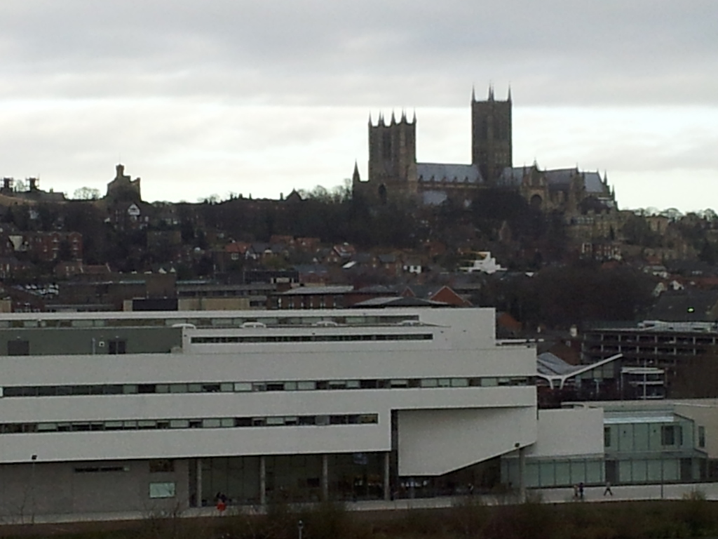 Lincolm Christmas Market - Lincoln Cathedral Distant View