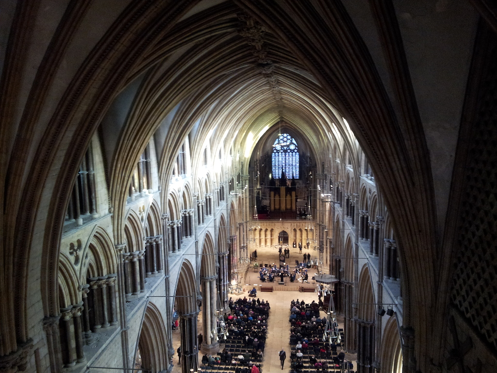 Lincoln Christmas Market Inside Lincoln Cathedral