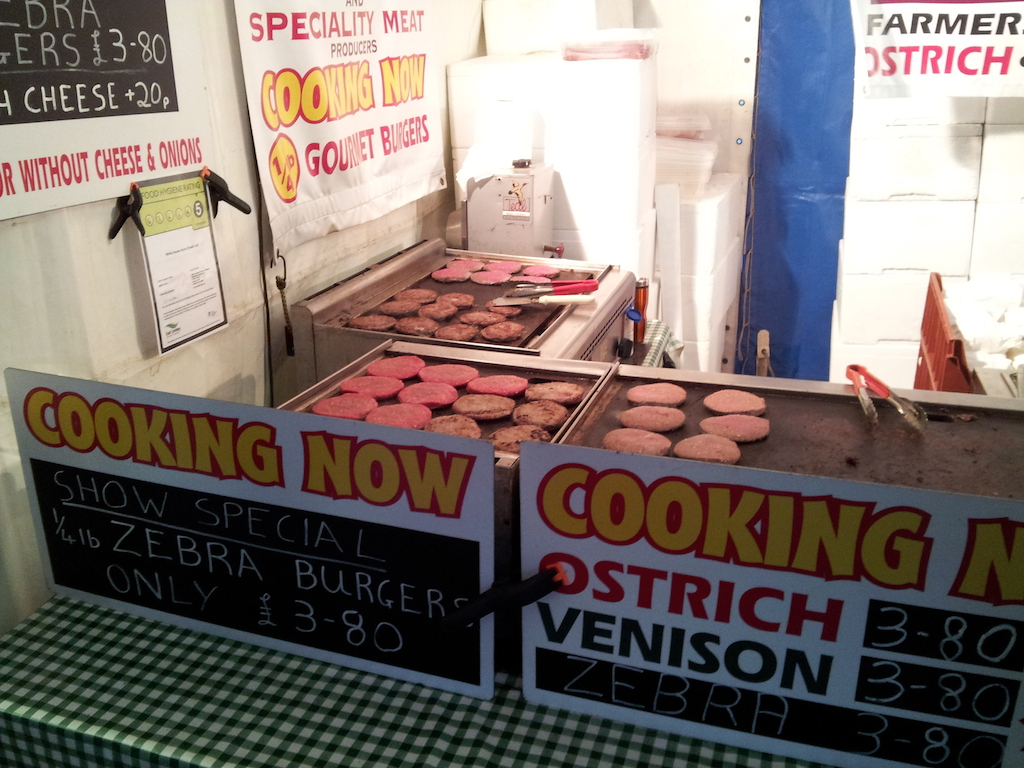 Lincoln Christmas Market Ostrich Burgers