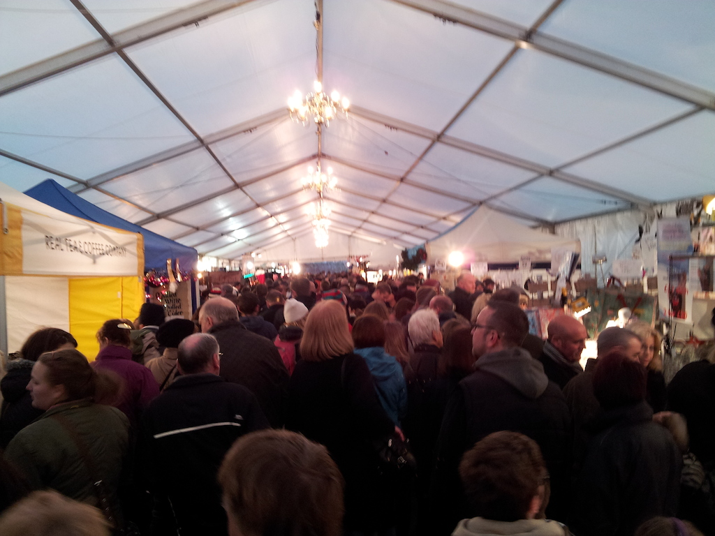 Lincoln Christmas Market Packed Tent
