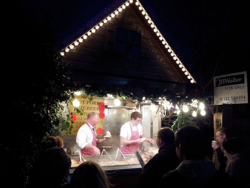 Lincoln Christmas Market Pulled Pork Stand