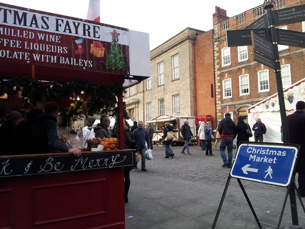 Lincoln Christmas Market Sign