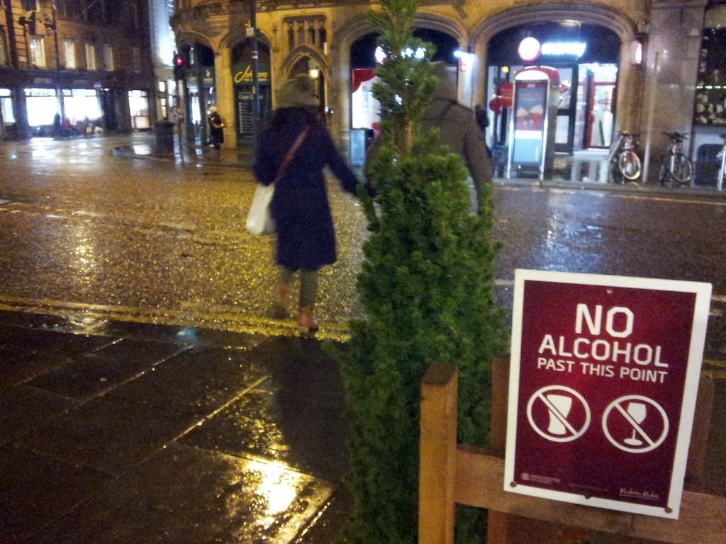 Manchester Christmas Market Albert Square-No Alcohol Beyond This Point