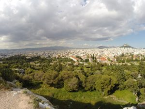 City of Athens from the hill just below the Acropilis