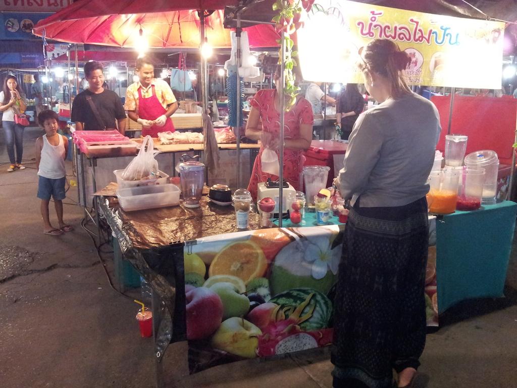 Ayutthaya Night Market Lady Buying