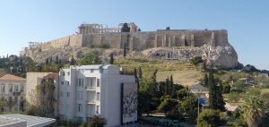 The Parthenon from the Acropolis Museum Athens,Greece