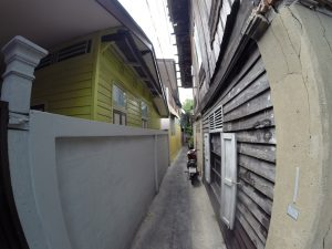 Narrow Streets Near Santa Cruz Church Bangkok Thailand