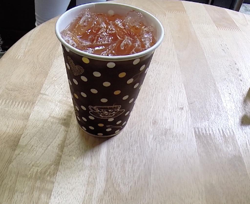 Lemon Iced tea from Thanusingha House Bakery in Bangkok