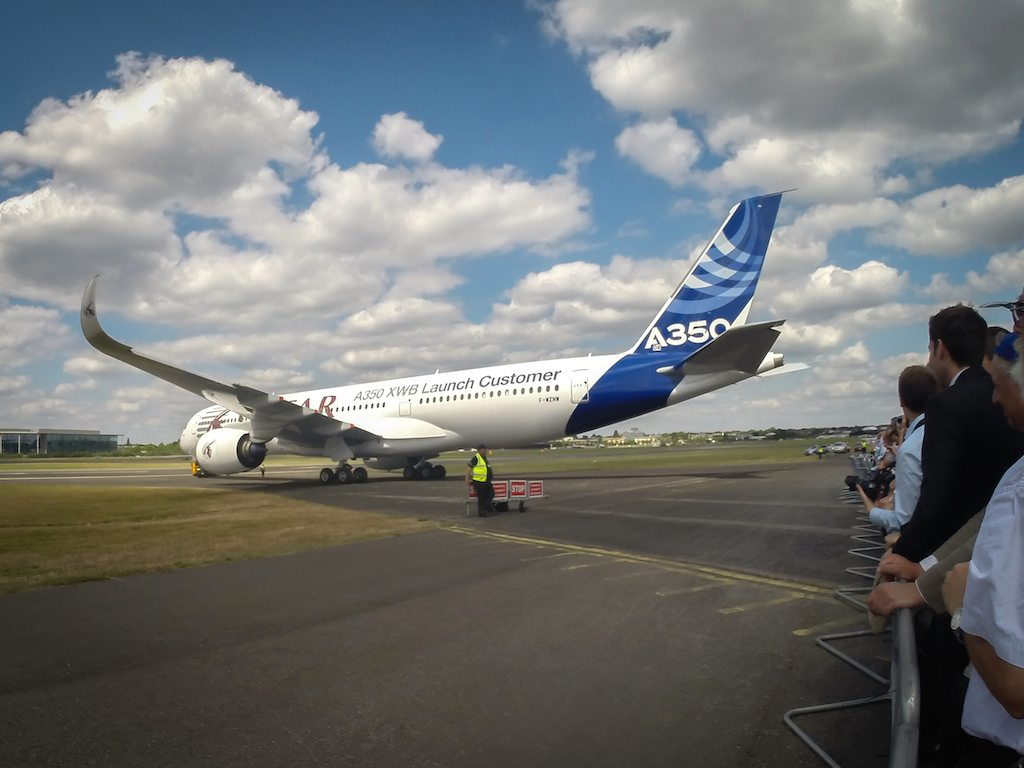 Airbus A350XWB at Farnborough 2014
