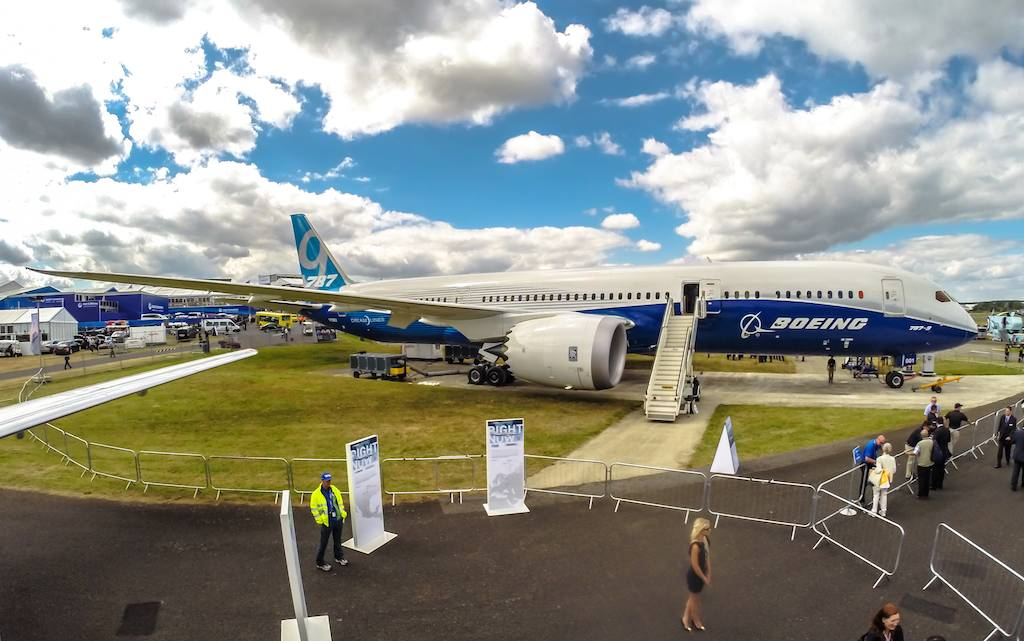 Boeing's 787-9 at Farnborough 2014