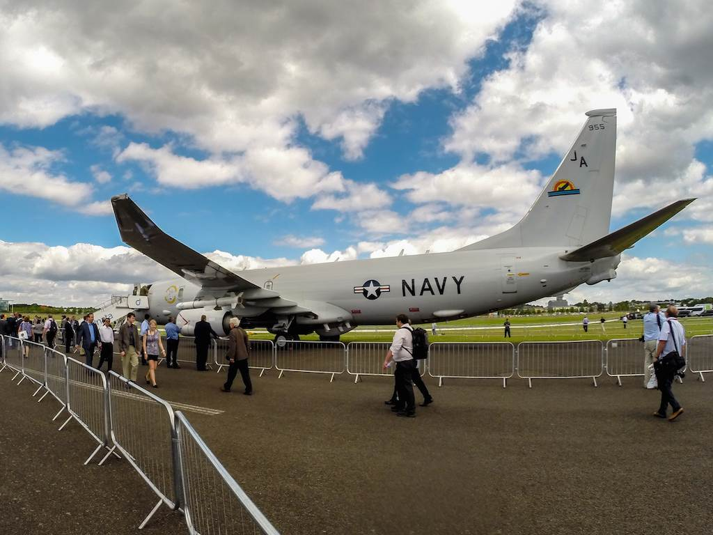 Boeing's P8 Poseidon at Farnborough 2014