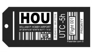 Houston-Bobby (HOU) Airport Bag Tag