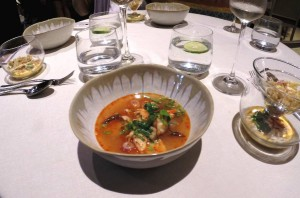 Prawn Tom Yum Soup at the Benjarong Dusit Thani Bangkok by Chef Morten Bojstrup