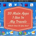 20 Main Apps I Use In My Travels