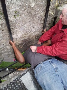 Kissing The Blarney Stone at Blarney Castle Blarney, Ireland