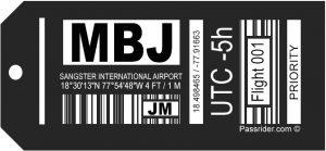 MBJ Airport Tag
