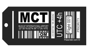 Muscat, Oman (MCT) Airport Tag