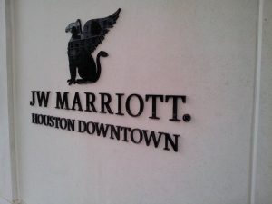 Door Sign JW Marriott Houston Downtown