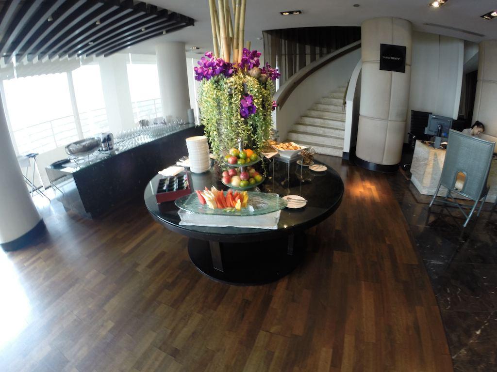 Food At The Loyalty Lounge at the Millennium Hilton Bangkok Thailand