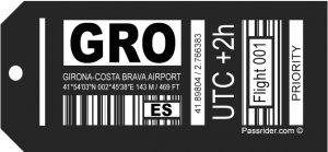Girona-Costa Brava (GRO) Airport Tag