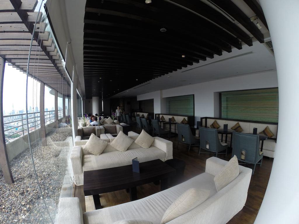 Inside The Loyalty Lounge at the Millennium Hilton Bangkok Thailand