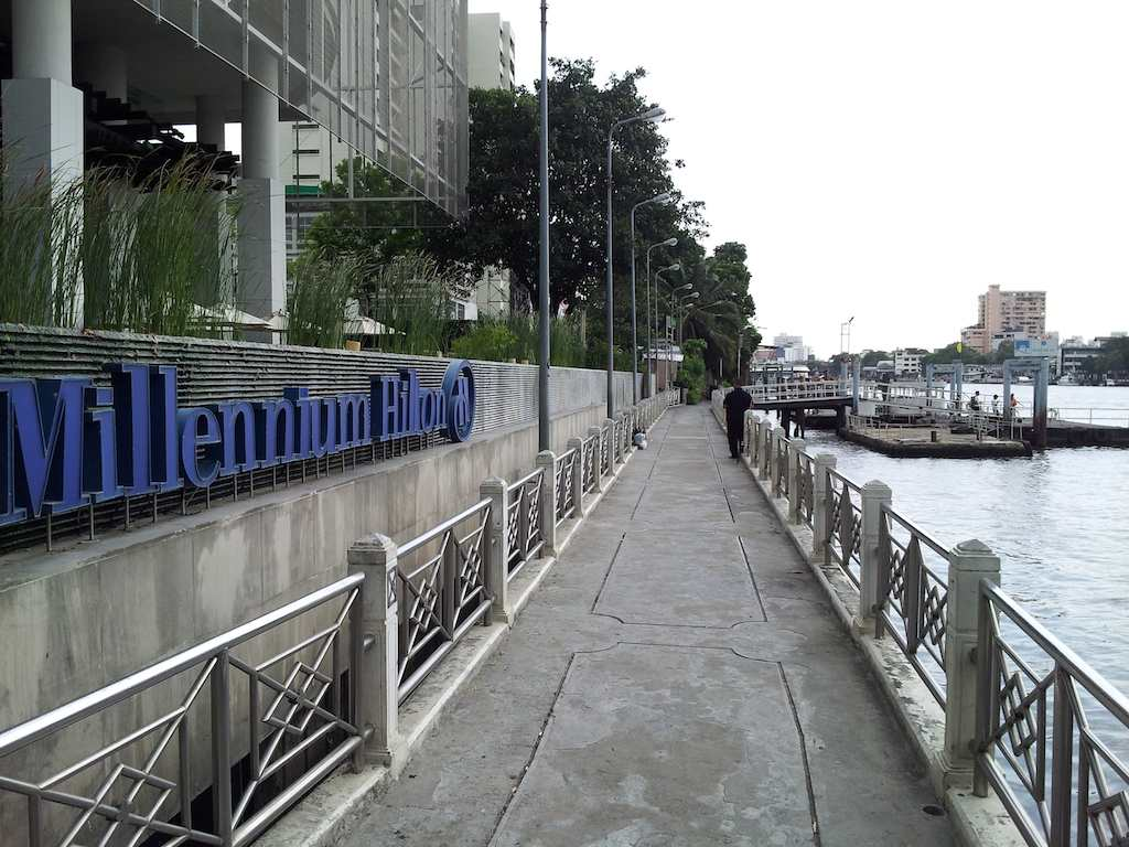 River Entrance at the Millennium Hilton Bangkok, Thailand
