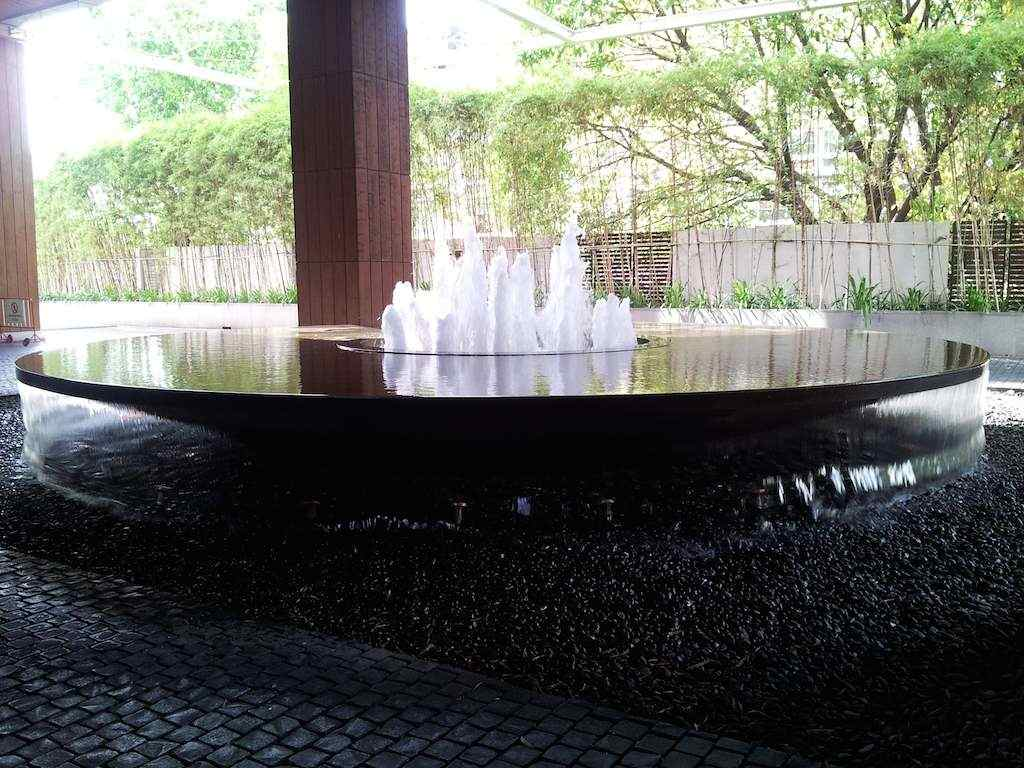 Water Fountain at the Street Entrance of the Millennium Hilton Bangkok, Thailand