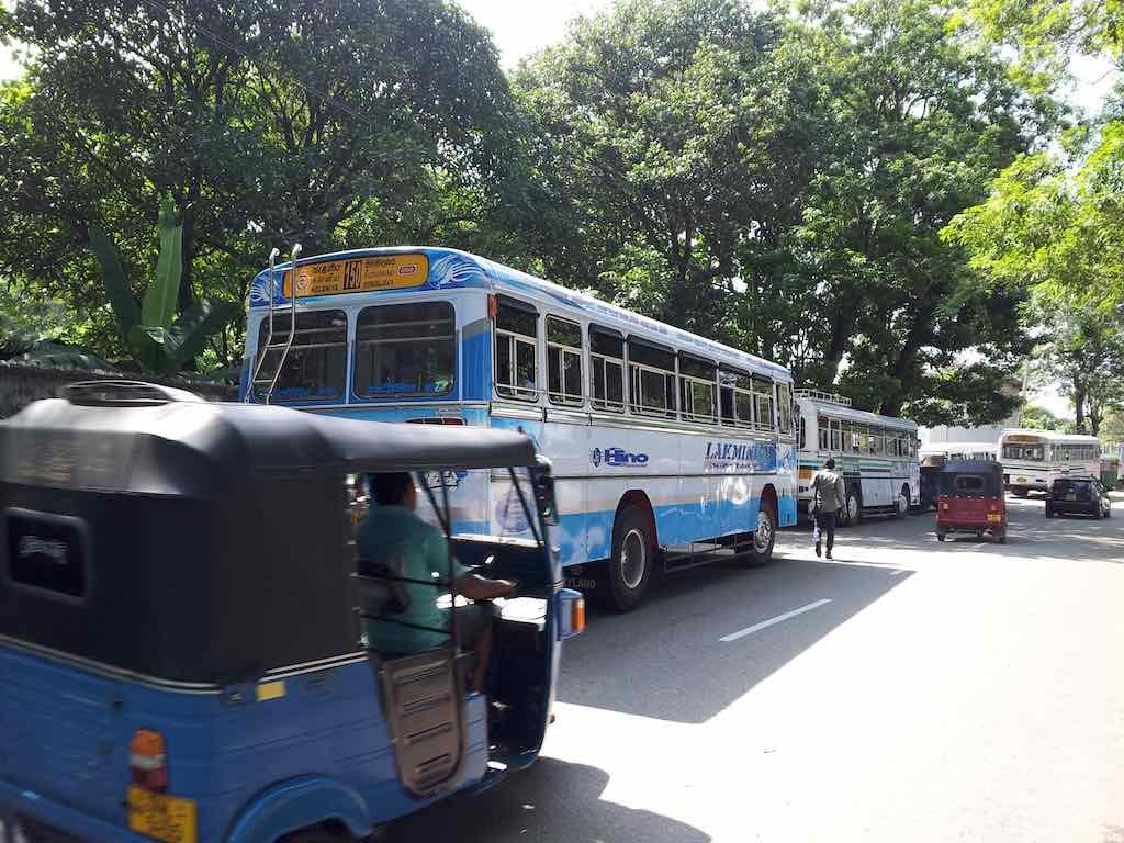 Colombo, SriLanka - Bus and Tuk Tuk