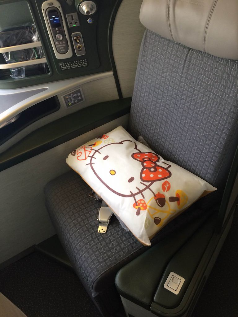 Hello Kitty Eva Air Laurel Class Seat