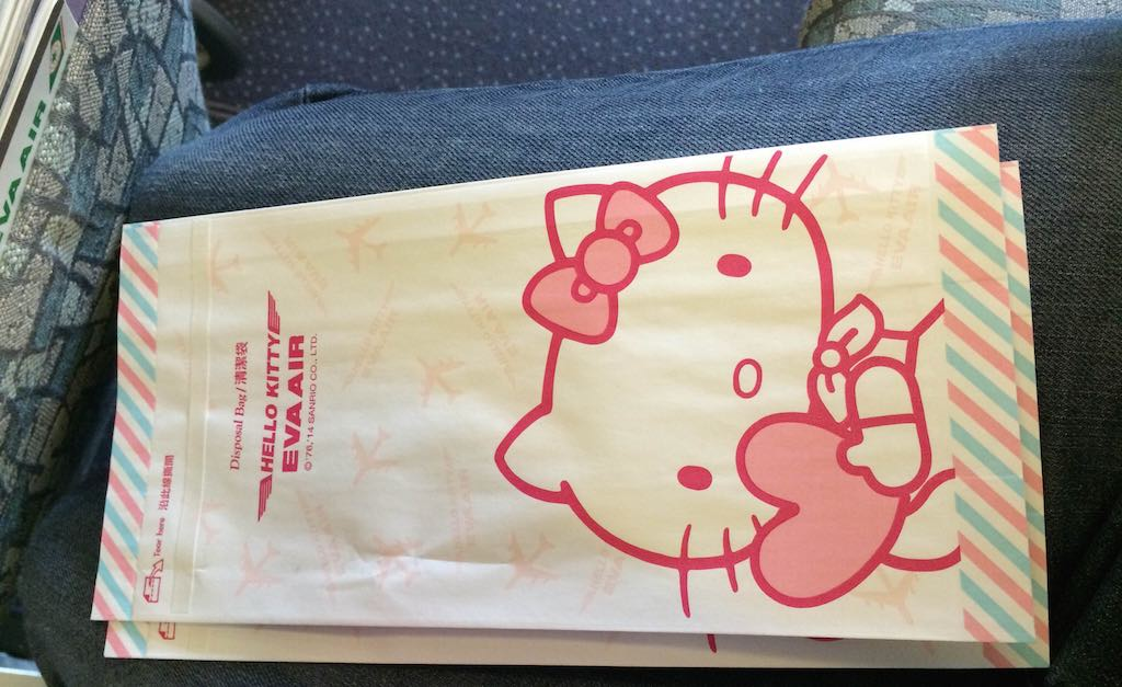 Hello Kitty Eva Air Barf Bags