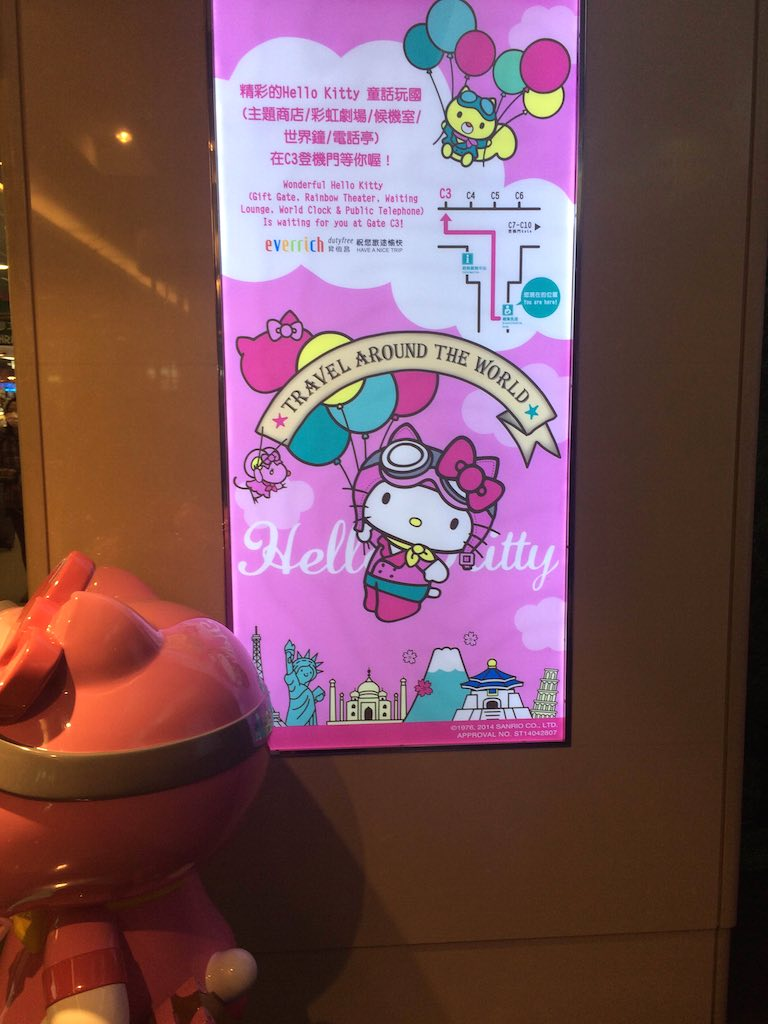Hello Kitty Eva Air Wall Sign
