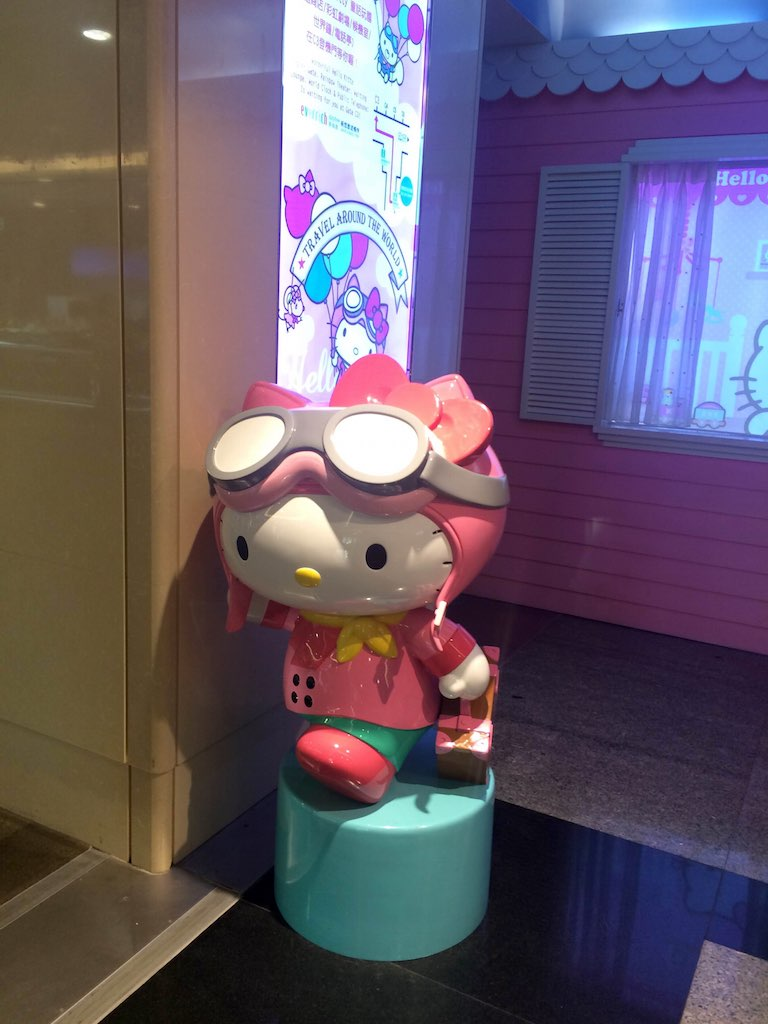 Hello Kitty Eva Air with Suitcase