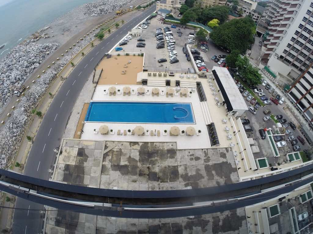 The Kingsbiry, Colombo Sri Lanka - The view of the Pool from The Sky Lounge During The Day