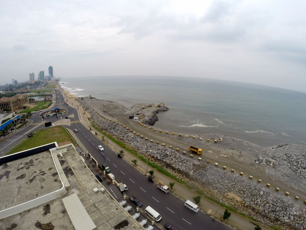 Galle Face from the Sky Lounge at The Kingsbury in Colombo, Sri Lanka