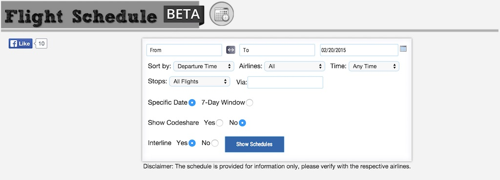 Flight Schedule Bata