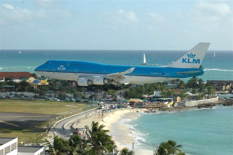 KLM Boeing 747-400 - Landing SXM