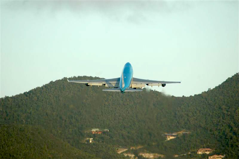 KLM Boeing 747-400 - Taking Off SXM