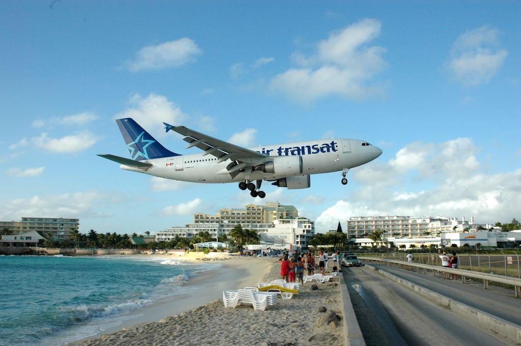 Air Transat Airbus A310 Landing in SXM