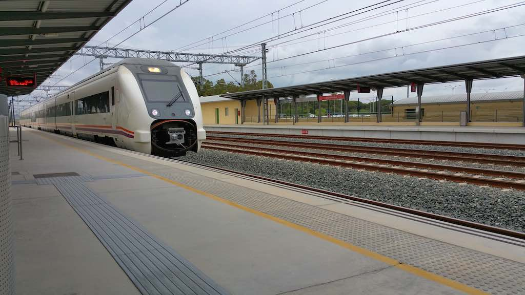 RenfeTrain in Jerez Airport, Andalusia, Spain