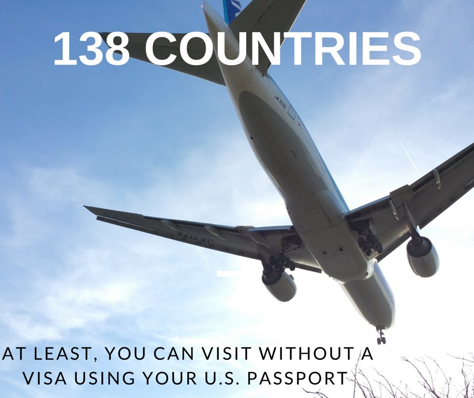 At Least 138 countries you can visit without a visa using your U.S. passport