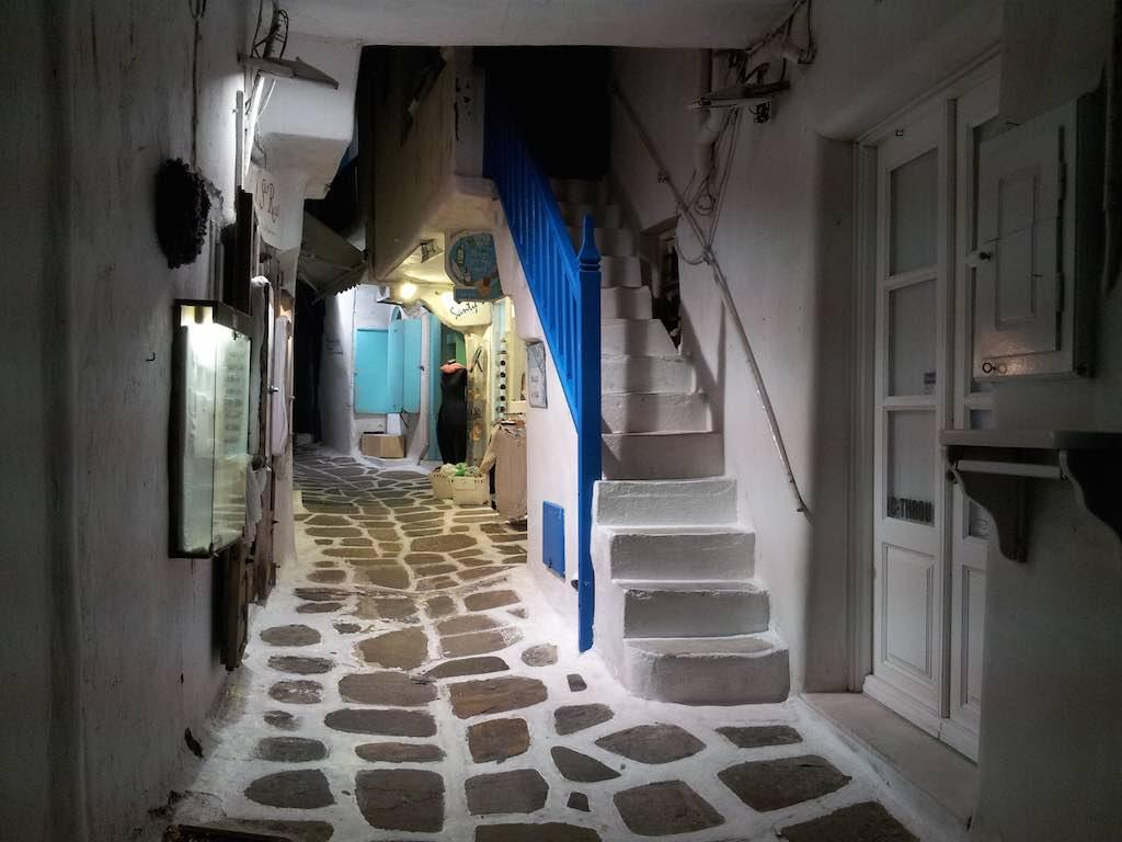 Celestyal Cruises Louis Olympia A Street in Mykonos, Greece