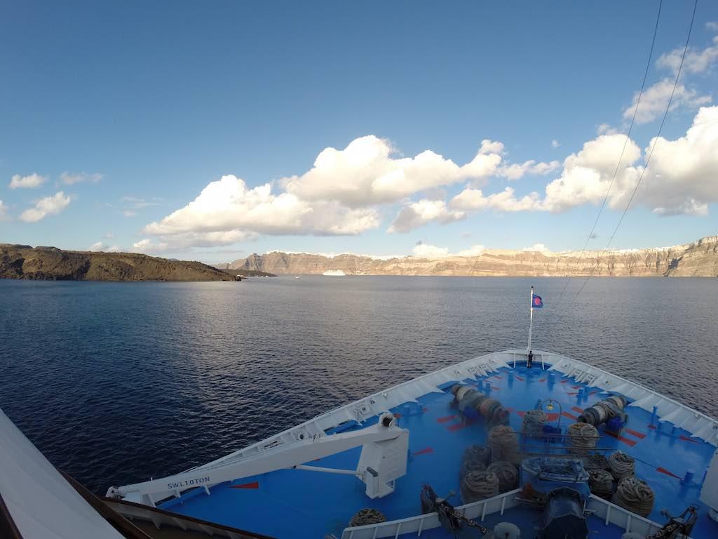 Celestyal Cruises Louis Olympia Arriving Santorini