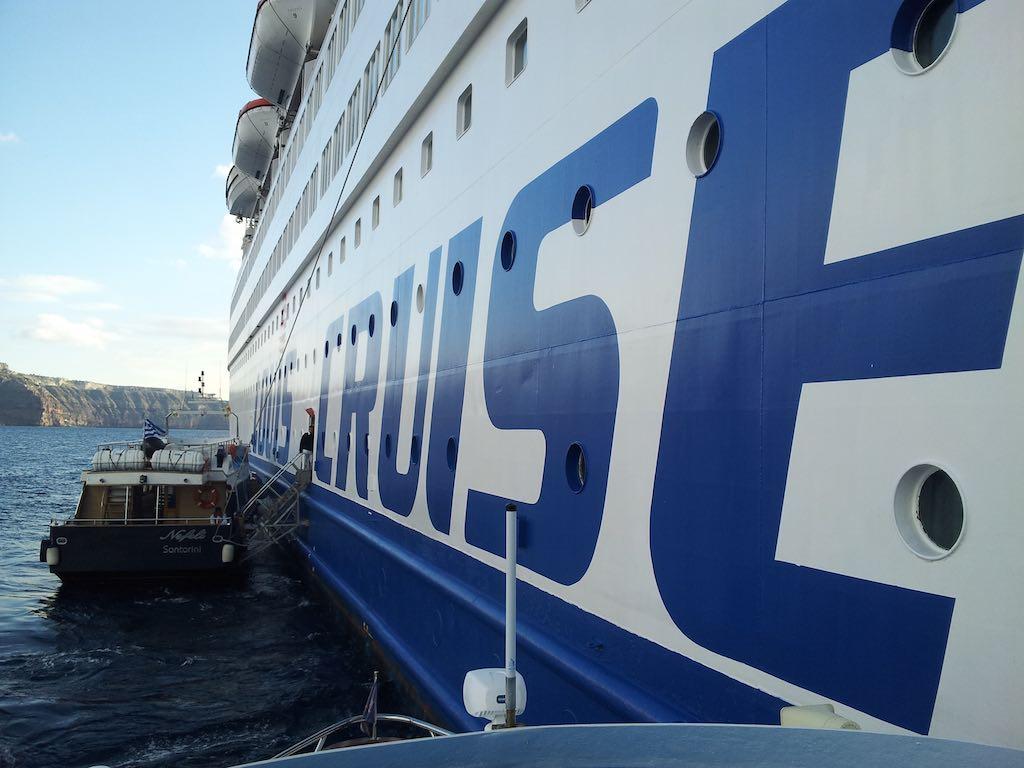 Celestyal Cruises Louis Olympia Driving in Santorini