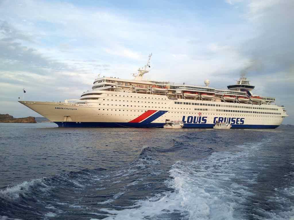 Celestyal Cruises Louis Olympia Docked in Patmos Harbour