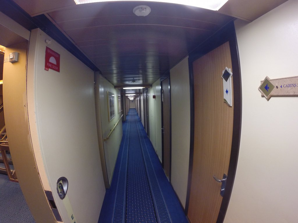 Celestyal Cruises Louis Olympia Hallway to cabins