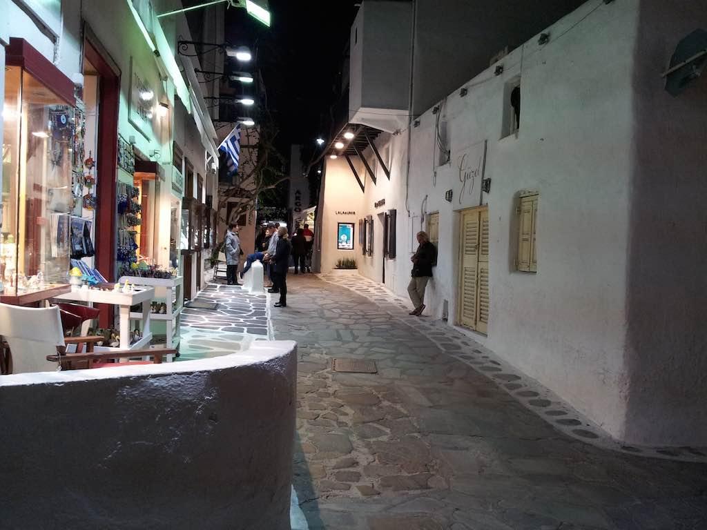 Celestyal Cruises Louis Olympia Street on Mykonos, Greece