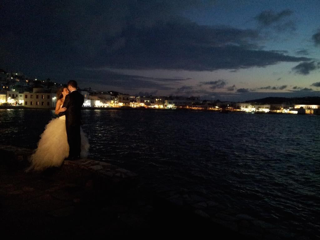 Celestyal Cruises Louis Olympia Wedding Couple on Mykonos Greece